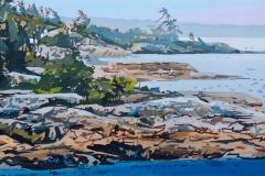 A Windblown Shore, 15x30