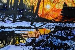Winter Sunrise, Rattry Marsh, 12x16