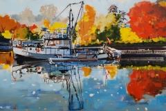 Autumn, Sixteen Mile Creek, 18x24